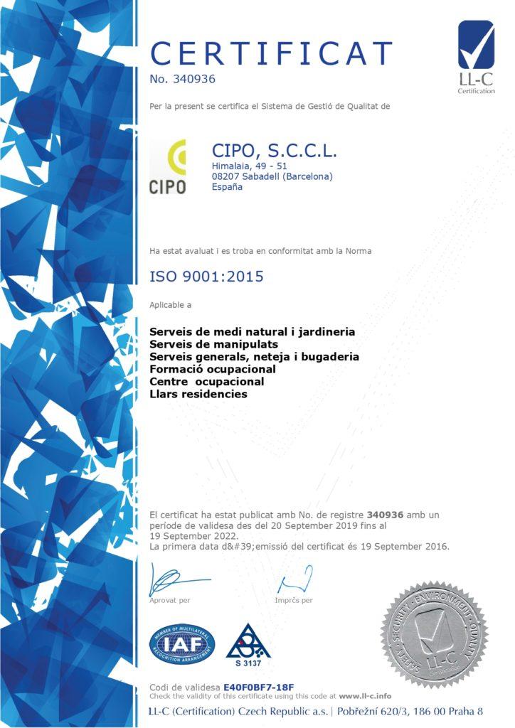 CERTIFICAT 9001